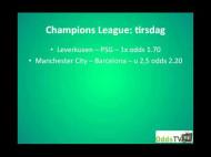 Champions League 1/8-finaler tirsdag